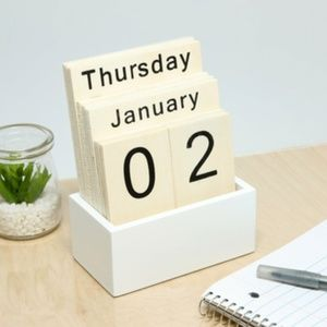 Product Wood Block Desktop Daily Calendar gift